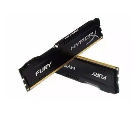 memória kingston hyperx fury 4gb 1600mhz ddr3 cl10 black ser
