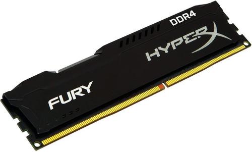 memória kingston hyperx fury 8gb 2400mhz ddr4 hx424c15fb2/8