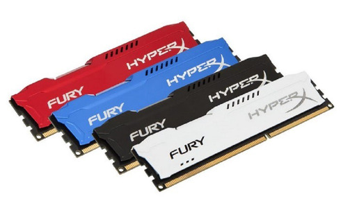 memoria  kingston hyperx fury 8gb ddr3 1600mhz