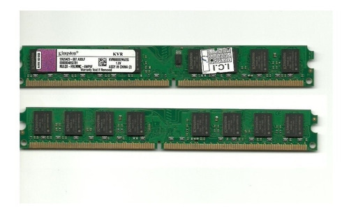 memória kingston kit 2un.x2gb=4g ddr2  800mhz