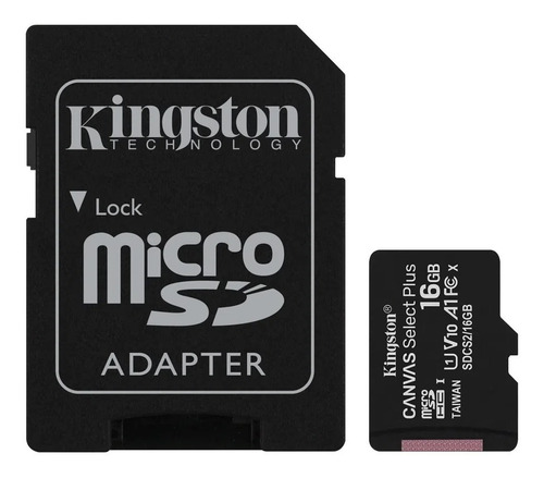 memoria kingston micro sd 16 gb clase 10 80 mb/seg original