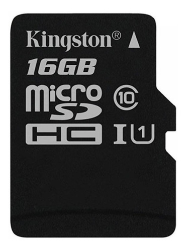 memoria kingston micro sd 16gb clase 10 canvas select 80mb/s