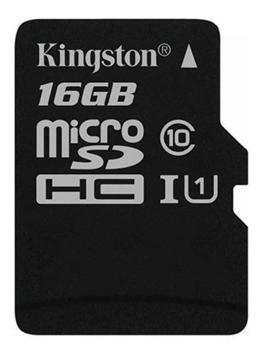 memoria kingston micro sd 16gb clase 10 canvas select 80mb/s