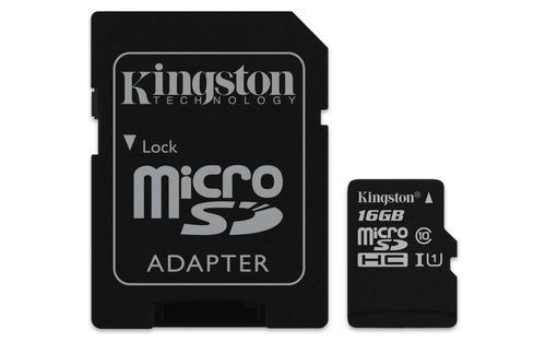 memoria kingston micro sd 16gb class 10