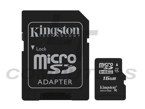 memoria kingston micro sd 16gb con adaptador ideal celulare
