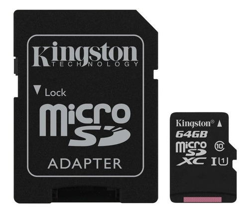 memoria kingston micro sd 64gb clase 10 canvas select 80mb/s