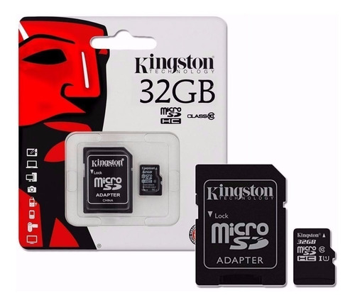 memoria kingston micro sd hc 32gb clase 10 full hd celular
