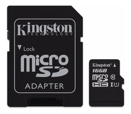 memoria kingston microsd 16gb original clase 10 factura a b