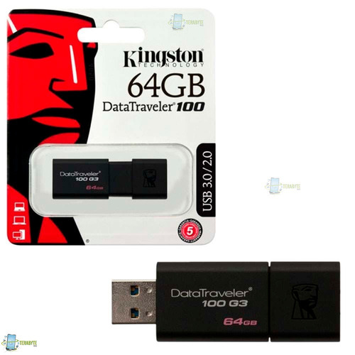 memoria kingston usb 64gb  dt100 nuevo 100% original grantia