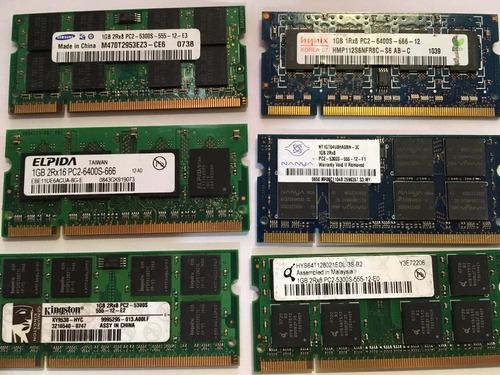 memoria laptop 1gb ddr2