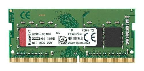 memoria laptop sodimm 8gb ddr4 cl17 2400mhz kingston envíos