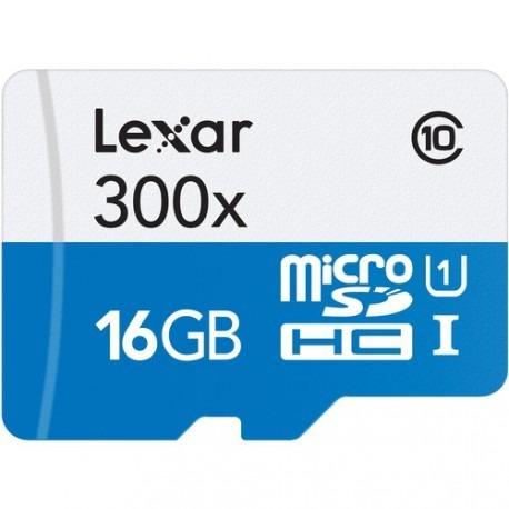 memoria lexar 16gb c10 300x para vídeo 4k gopro hero 5 6
