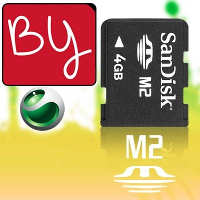 memoria m2 sony/lexar 4gb para camaras,psp play station