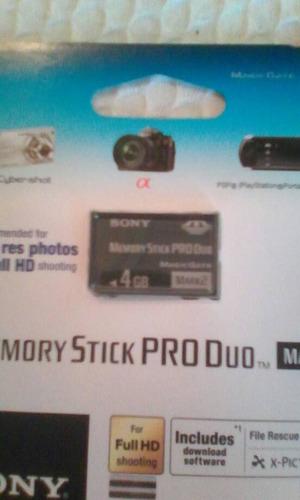 memoria memory stick pro duo 4gb
