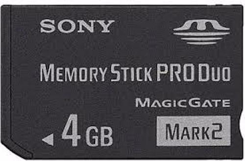 memoria memory stick sony 4 gb para dscw110 w180 w190 w300