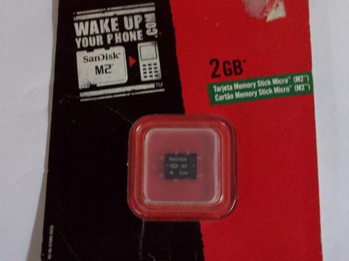 memoria micro m2 de 2 gb sandisk