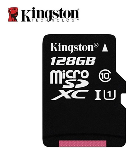 memoria micro sd 128gb 80mb/s clase 10 kingston adaptador