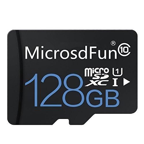 memoria micro sd 128gb + adaptador sd clase 10
