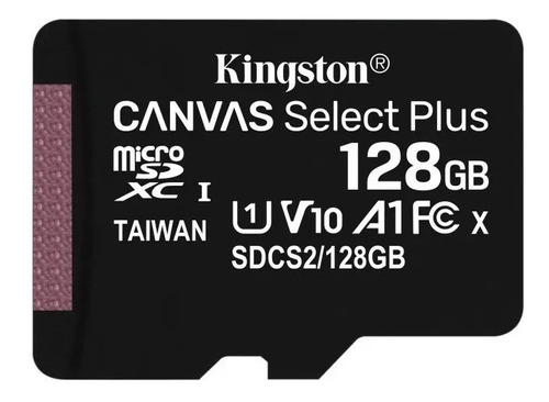memoria micro sd 128gb kingston canvas plus 100mb/s clase 10