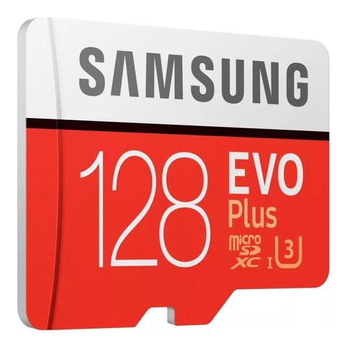 memoria micro sd 128gb samsung evo plus u3 4k 100mb/s gopro