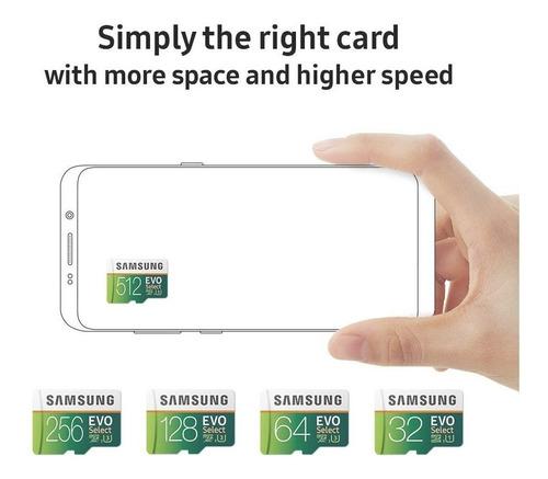 memoria micro sd 128gb samsung evo select 100mb/s sdxc