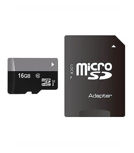 memoria micro sd 16 gb clase 10 con adaptador smartphone