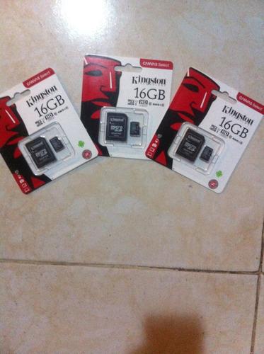 memoria micro sd 16 gb. con 30 generos de musica  kingston