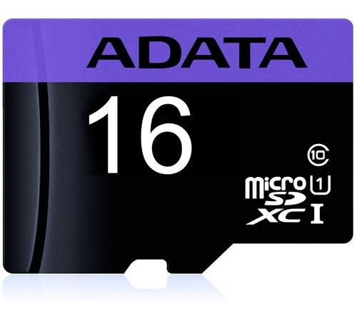 memoria micro sd 16gb adata clase 10 video full hd celulares