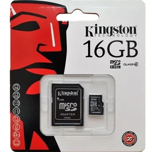 memoria micro sd 16gb clase 10 + adaptador nueva original