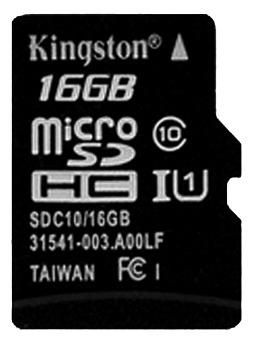 memoria micro sd 16gb clase 10 kingston nuevo