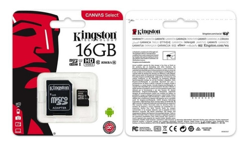 memoria micro sd 16gb kingston clase 10 ultra mobile 80mb