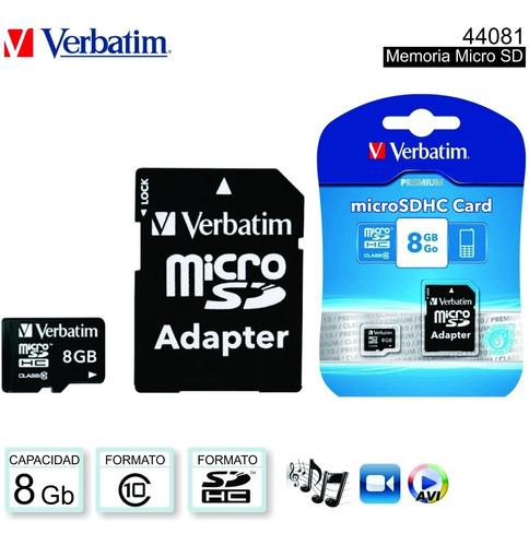 memoria micro sd 16gb kingston / verbatim clase 10