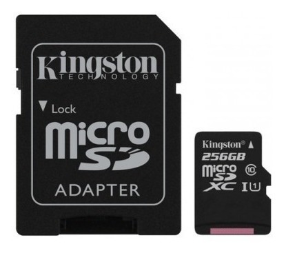 memoria micro sd 256gb kingston xc 80r uhs-i clase 10