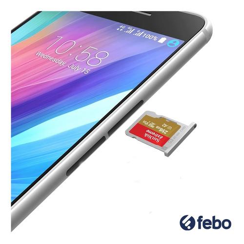 memoria micro sd 256gb sandisk u3 4k celular camara febo
