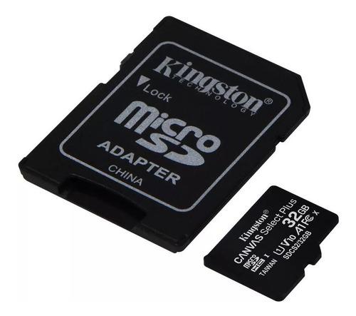 memoria micro sd 32gb 100mb/s clase 10 kingston adaptador