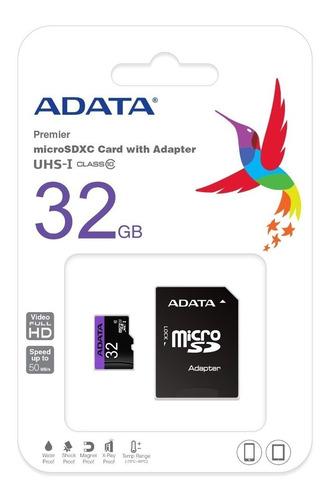 memoria micro sd 32gb clase 10 80 mb/s