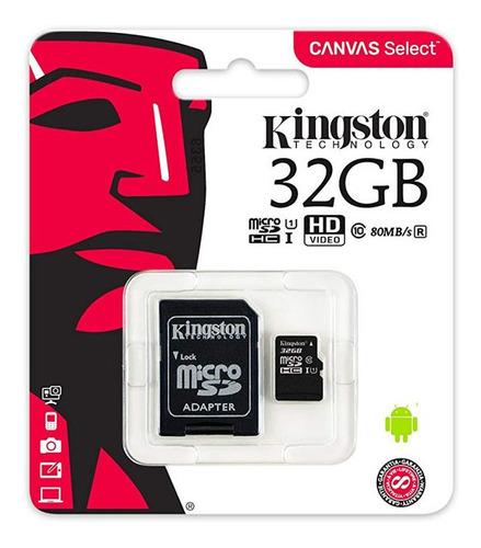 memoria micro sd 32gb kingston celular camara adaptador nnet