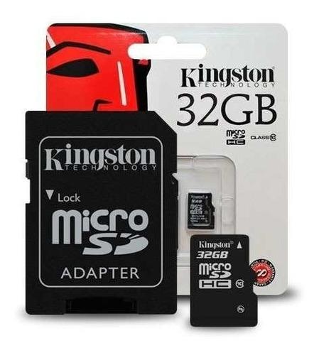 memoria micro sd 32gb kingston clase 10 fullhd  microcentro