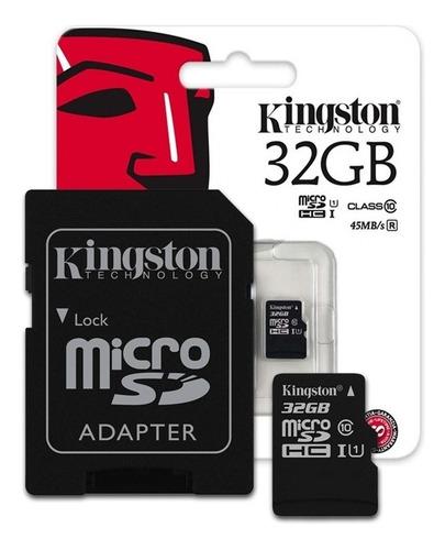 memoria micro sd 32gb kingston clase 10 original microsd new