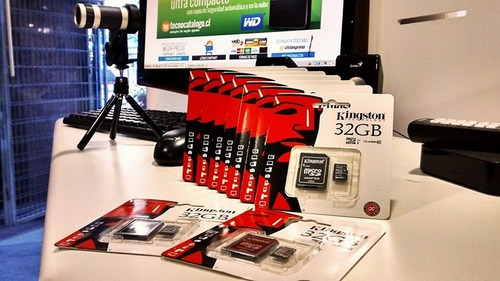 memoria micro sd 32gb kingston con adaptador oferta clase 4
