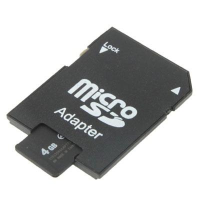 memoria micro sd 4 gb velocidad clase tf 100% real negro