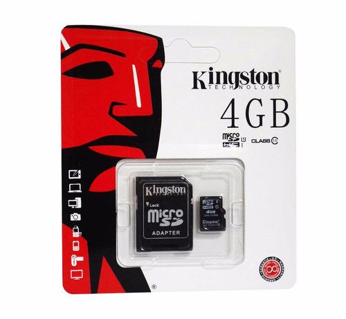 memoria micro sd 4gb kingston