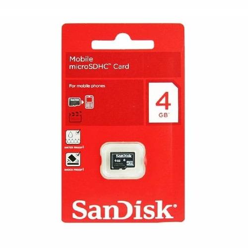 memoria micro sd 4gb sandisk con adaptador en blister oferta