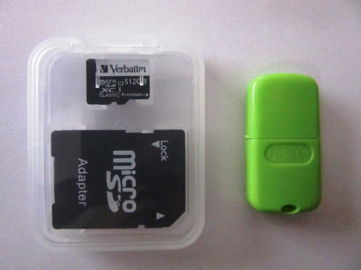 Memoria Micro Sd 512 Gb Clase 10 Verbatim Con Adaptadores
