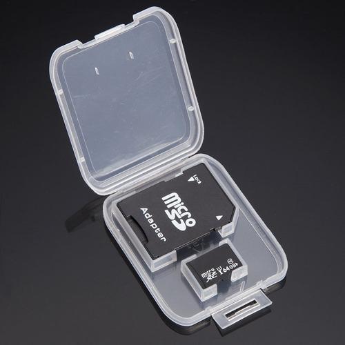 memoria micro sd 64gb + adaptador sd clase 10