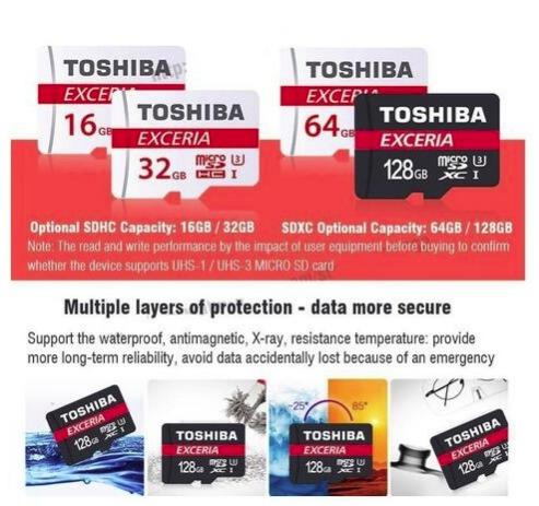 memoria micro sd 64gb toshiba original/ lector sd/ clase 10