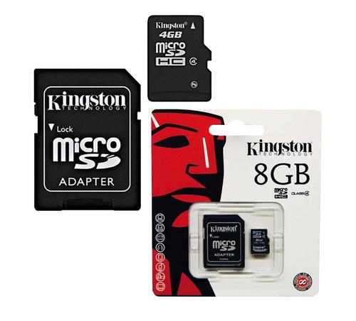 memoria micro sd 8 gb kingston c/convertidor sd