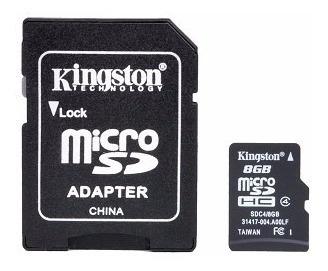 memoria micro sd 8gb clase 4 kingston camara fotos digital