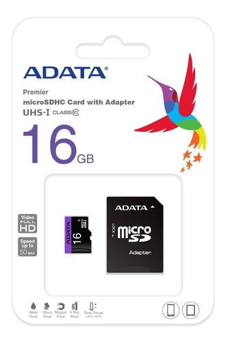 memoria micro sd adata - class 10 - 16 gb