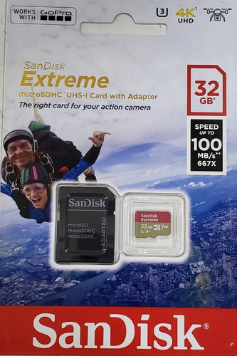 memoria micro sd extreme sandisk 32gb gopro diginet